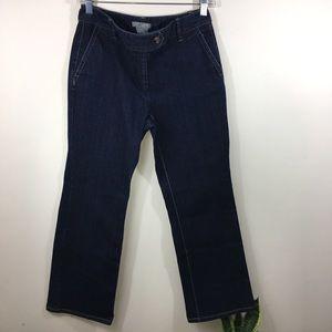 Ann Taylor Womens Jeans 4P Dark Wash  Petites 438